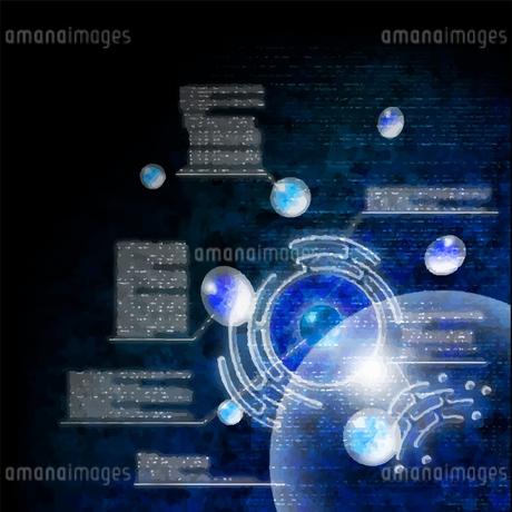 電脳空間をイメージしたイラストのイラスト素材 [FYI03387459]