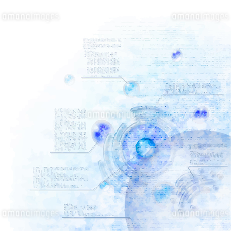 電脳空間をイメージしたイラストのイラスト素材 [FYI03387460]