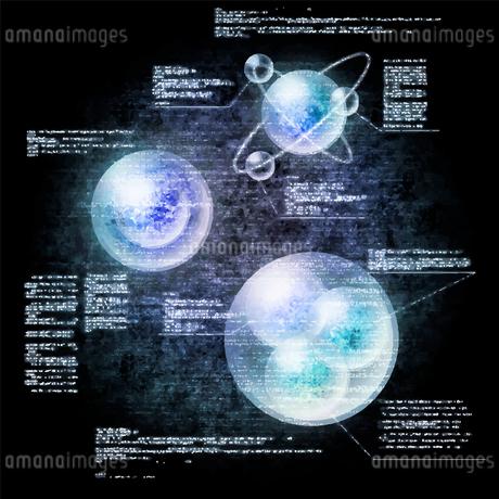 電脳空間をイメージしたイラストのイラスト素材 [FYI03387461]