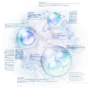 電脳空間をイメージしたイラストのイラスト素材 [FYI03387462]