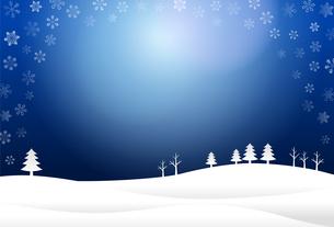 雪景色 背景イラストのイラスト素材 [FYI03387700]