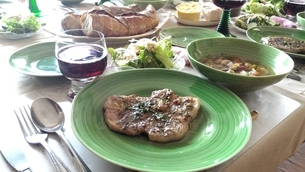 ランチ食事の写真素材 [FYI03387941]