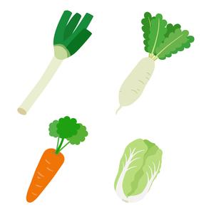 冬の野菜セットのイラスト素材 [FYI03388051]
