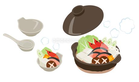鍋料理一式のイラスト素材 [FYI03388053]
