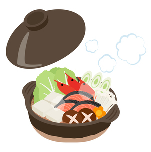 鍋料理のイラストのイラスト素材 [FYI03388054]