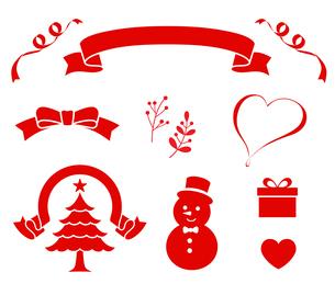 クリスマス装飾アイコンセットのイラスト素材 [FYI03388075]