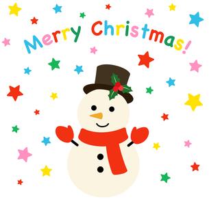 クリスマスと雪だるまのイラスト素材 [FYI03388345]