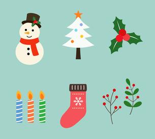 クリスマスアイコンのイラスト素材 [FYI03388346]