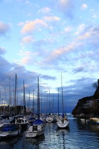 港のヨットの写真素材 [FYI03389281]