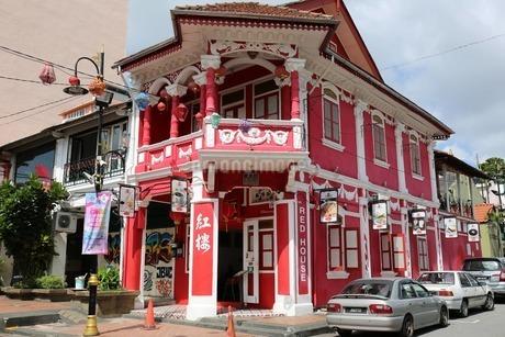 レッドハウスカフェ マレーシアの写真素材 [FYI03389872]