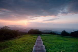 霧降高原キスゲ平園地 日本 栃木県 日光市の写真素材 [FYI03389936]