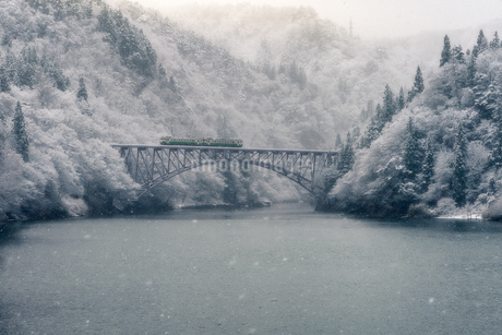 只見川第一橋梁 の写真素材 [FYI03389990]