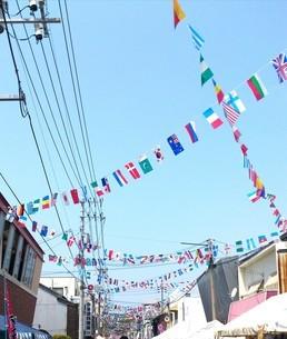 祭りの万国旗の写真素材 [FYI03390060]