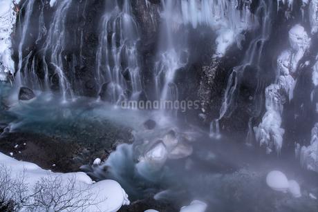 白ひげの滝 日本 北海道 美瑛町の写真素材 [FYI03390233]