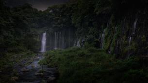 白糸の滝 日本 山梨県 南部町の写真素材 [FYI03390271]