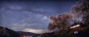 勝間薬師堂のしだれ桜 日本 長野県 伊那市の写真素材 [FYI03390306]