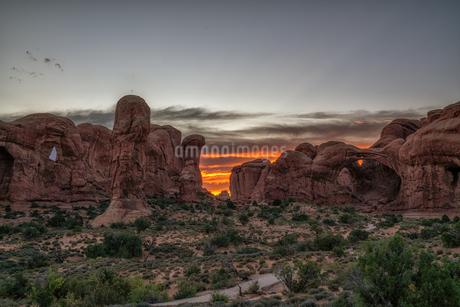arches national park Estados Unidos Utah Moabの写真素材 [FYI03390369]