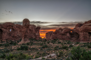 arches national park Estados Unidos Utah Moabの写真素材 [FYI03390369]