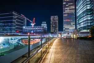 横浜みなとみらいのオフィスビルの建築現場(2018年12月)の写真素材 [FYI03390667]