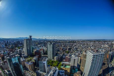 晴天の仙台市内の街並みの写真素材 [FYI03390703]