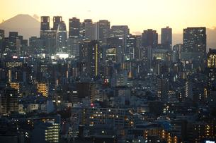 文京シビックセンターからの夕景(新宿方面)の写真素材 [FYI03390758]