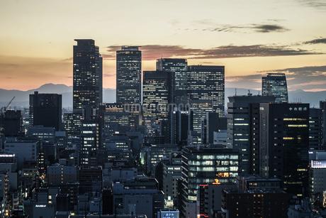 名古屋テレビ塔の展望台からの夕景の写真素材 [FYI03390787]