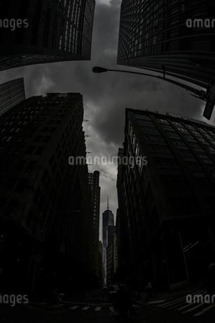 ウォール街から見るワンワールドトレードセンターの写真素材 [FYI03390798]