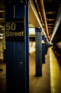 ニューヨークの地下鉄のイメージの写真素材 [FYI03390825]