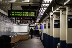 ニューヨークの地下鉄のイメージの写真素材 [FYI03390845]