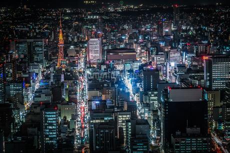 名古屋の夜景(スカイプロムナードから)の写真素材 [FYI03390871]