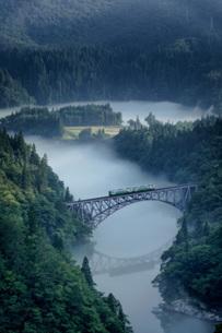 第一只見川橋梁(だいいちただみがわきょうりょう) 日本 福島県 三島町の写真素材 [FYI03391045]