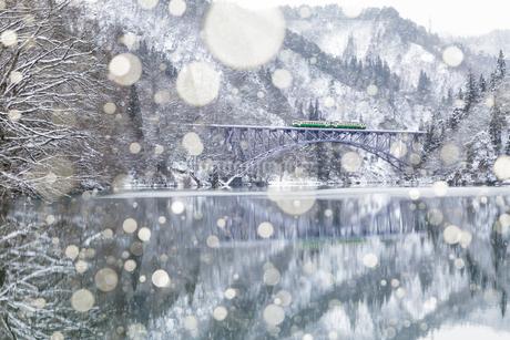 只見川第一橋梁 の写真素材 [FYI03391095]