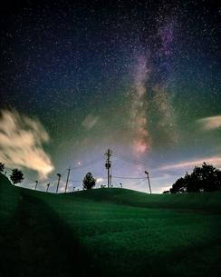 天の川 日本 京都府 和束町の写真素材 [FYI03391967]