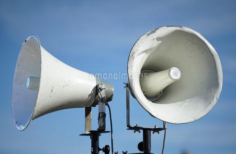 屋外放送のスピーカーの写真素材 [FYI03392005]