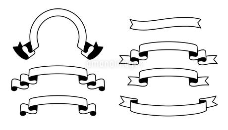 タイトルリボンのフレームセット のイラスト素材 [FYI03392078]