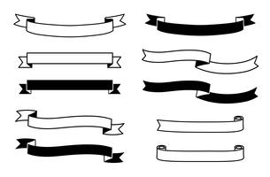 タイトルリボンのフレームセット のイラスト素材 [FYI03392080]