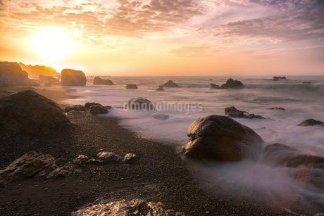 岩場の海岸 日本 愛知県 田原市 和地町 の写真素材 [FYI03392379]