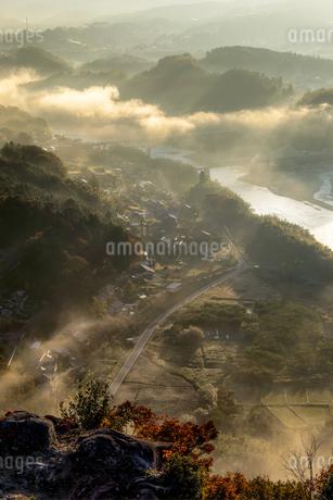 苗木城跡からの眺め 日本 岐阜県 中津川市の写真素材 [FYI03392398]
