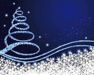 クリスマスツリー 青背景のイラスト素材 [FYI03392533]