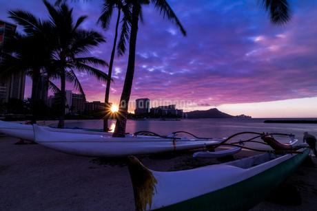 Waikiki Beach アメリカの写真素材 [FYI03392932]