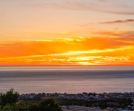北海道 自然 風景 日本海の夕暮れの写真素材 [FYI03392979]