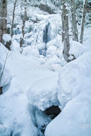 宇津江四十八滝公園 日本 岐阜県 高山市の写真素材 [FYI03393068]