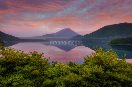 本栖湖 日本 山梨県 富士河口湖町の写真素材 [FYI03393087]