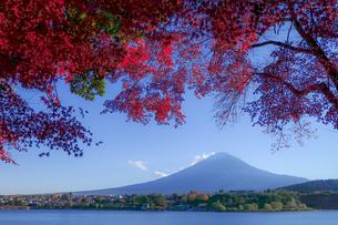 河口湖北岸 日本 山梨県 富士河口湖町の写真素材 [FYI03393089]
