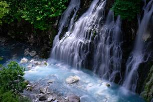 しらひげの滝 日本 北海道 美瑛町の写真素材 [FYI03393193]