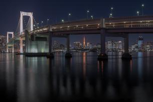 レインボーブリッジ 日本 東京都 港区の写真素材 [FYI03393278]