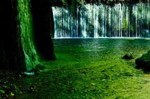 白糸の滝 日本 長野県 軽井沢町の写真素材 [FYI03393350]