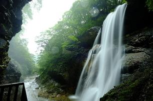 雷滝 松川渓谷 日本 長野県 高山村の写真素材 [FYI03393384]