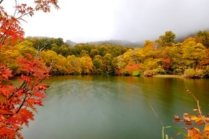 鎌池 日本 長野県 小谷村の写真素材 [FYI03393396]