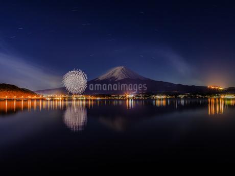河口湖北岸 日本 山梨県 富士河口湖町の写真素材 [FYI03393494]